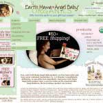 Earth Mama Angel Baby - Home Page Design (Magento Platform)