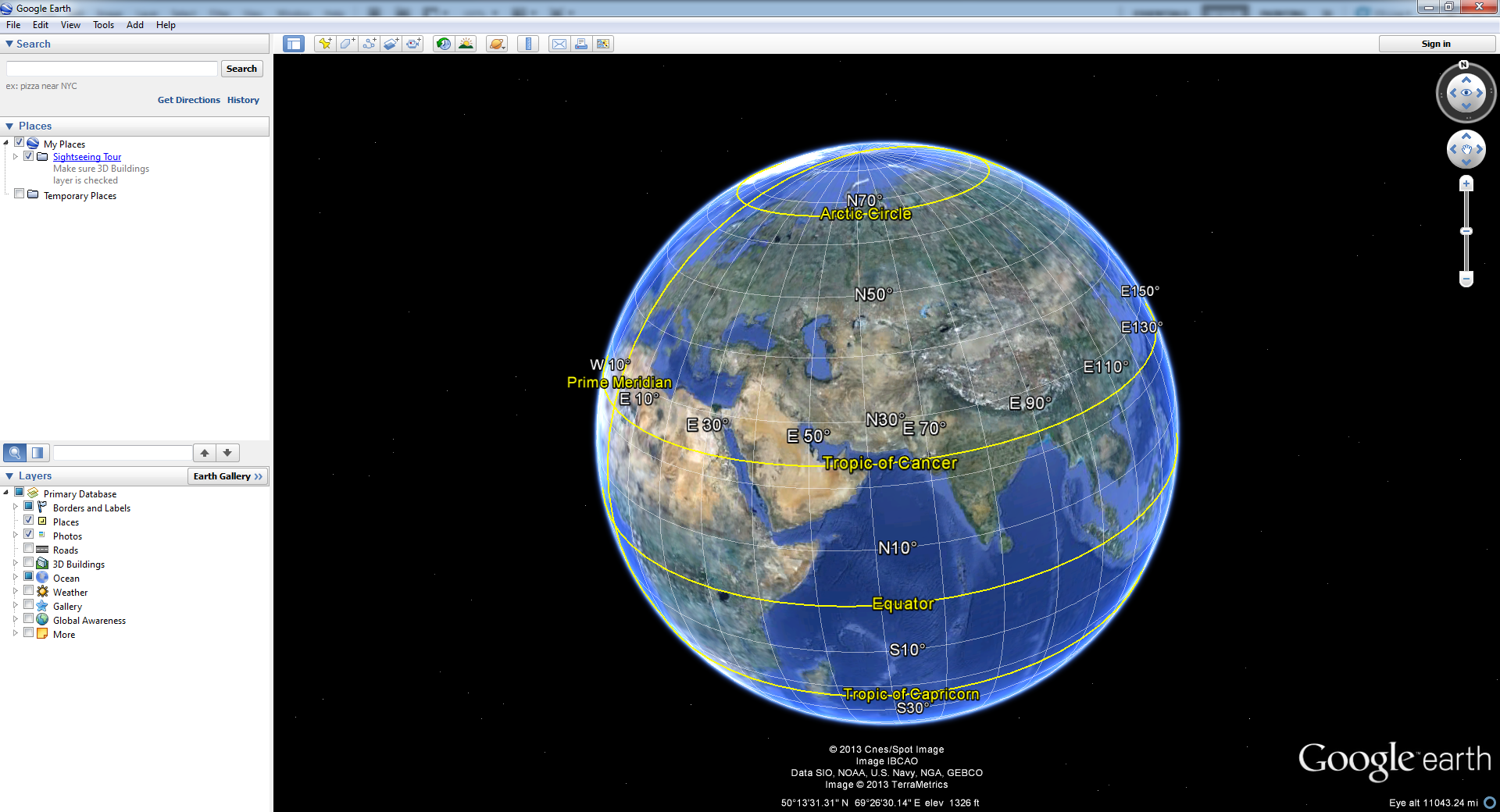 Satellite map of the World : Google™ — share any place ...